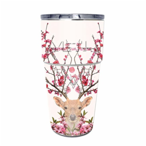 MightySkins YEPINT16SI-Spring Deer Skin for Yeti Rambler 16 oz Stackable Cup - Spring Deer Perspective: front