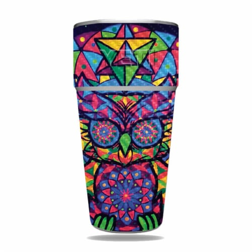 MightySkins CF-YERAM26SI-Goodnight Owl Carbon Fiber Skin for Yeti Rambler 26 oz Stackable Cup Perspective: front