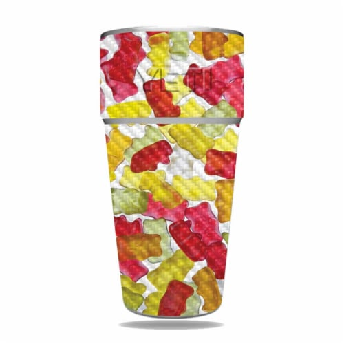 MightySkins CF-YERAM26SI-Gummy Bears Carbon Fiber Skin for Yeti Rambler 26 oz Stackable Cup - Perspective: front