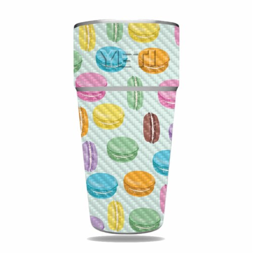 MightySkins CF-YERAM26SI-Macarons Carbon Fiber Skin for Yeti Rambler 26 oz Stackable Cup - Ma Perspective: front