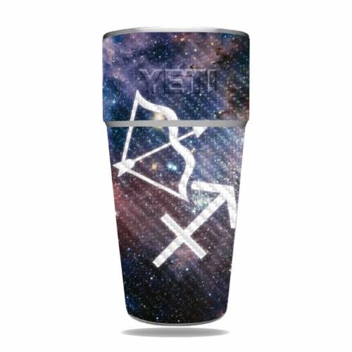 MightySkins CF-YERAM26SI-Sagittarius Carbon Fiber Skin for Yeti Rambler 26 oz Stackable Cup - Perspective: front