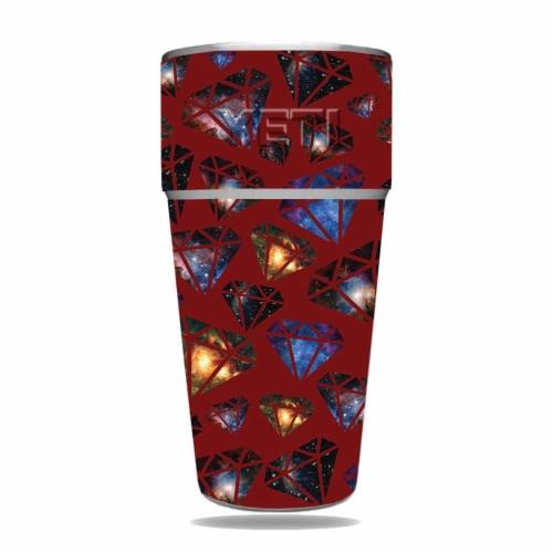 MightySkins YERAM26SI-Diamond Galaxy Skin for Yeti Rambler 26 oz Stackable Cup - Diamond Gala Perspective: front