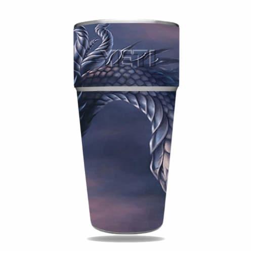 MightySkins YERAM26SI-Dragon Fantasy Skin for Yeti Rambler 26 oz Stackable Cup - Dragon Fanta Perspective: front