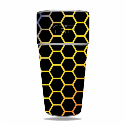 MightySkins YERAM26SI-Primary Honeycomb Skin for Yeti Rambler 26 oz Stackable Cup - Primary H Perspective: front