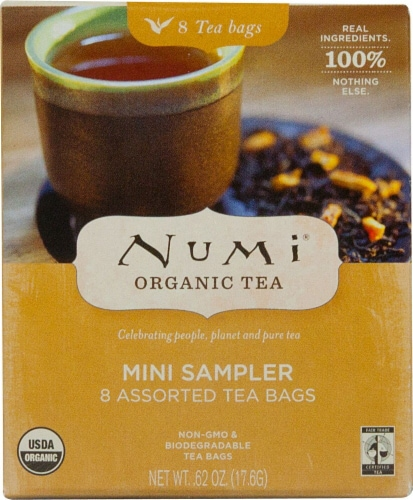 Numi  Organic Tea Mini Sampler Tea Bags Perspective: front