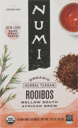 Numi Organic Rooibos Tea Bags Perspective: front