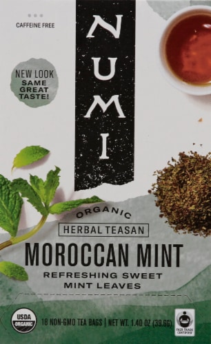 Numi Organic Moroccan Mint Tea Bags Perspective: front