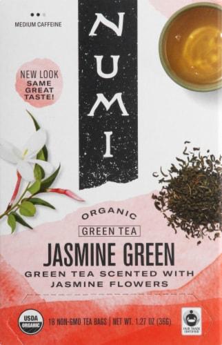 Numi Organic Jasmine Green Tea Bags 18 Count Perspective: front