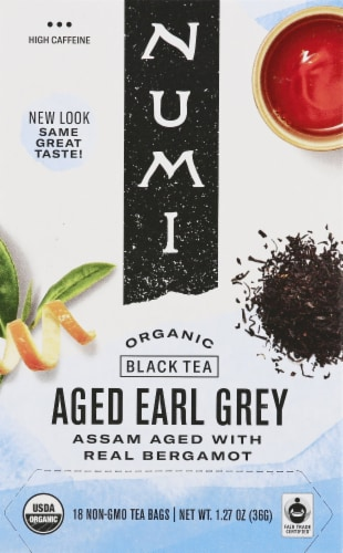 Numi Aged Earl Grey Organic Tea Bags Perspective: front