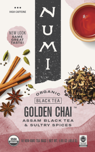 Numi Organic Golden Chai Tea Perspective: front