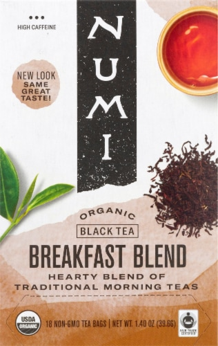 Numi Organic Breakfast Blend Tea Bags Perspective: front