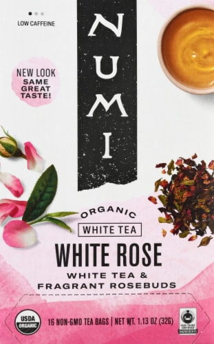 Numi  Velvet Garden™ White Rose Tea Bags Perspective: front