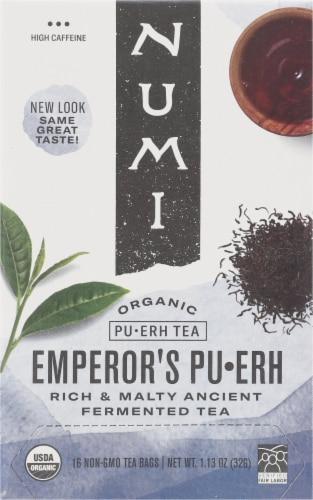 Numi Organic Emperor's Pu-Erh Tea Perspective: front