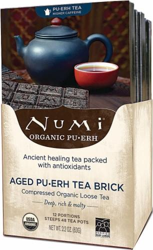 Numi  Aged Puerh Tea Brick Perspective: front