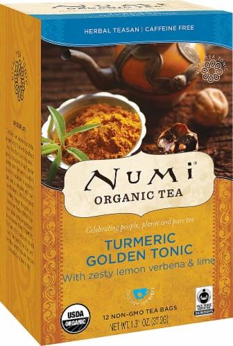 Numi  Organic Turmeric Tea   Golden Tonic Perspective: front