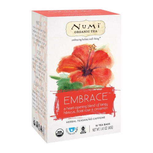 Numi Tea Organic Herb Tea -Embrace - Case of 6 - 16 count Perspective: front