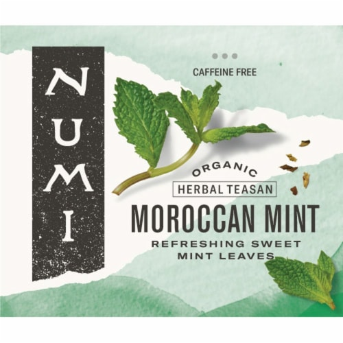 Numi Organic Moroccan Mint Herbal Tea, 0.77 Pound -- 1 each. Perspective: front