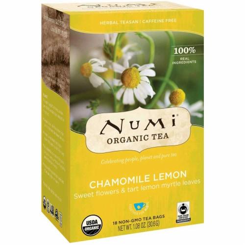 Numi Organic Chamomile Lemon Herbal Tea, 0.07 Pound -- 6 per case. Perspective: front