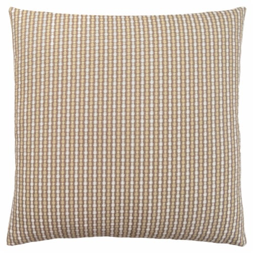 Pillow - 18 X 18  / Light / Dark Taupe Abstract Dot / 1Pc Perspective: front