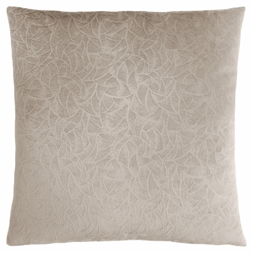 Pillow - 18 X 18  / Taupe Floral Velvet / 1Pc Perspective: front