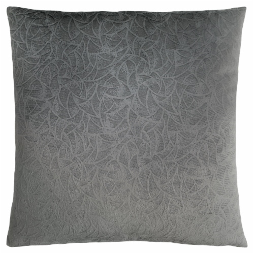 Pillow - 18 X 18  / Dark Grey Floral Velvet / 1Pc Perspective: front