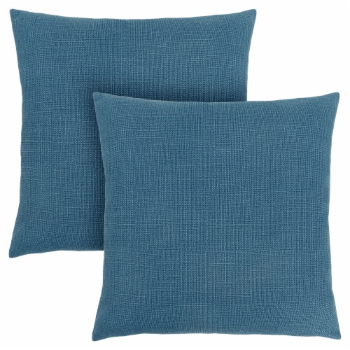Pillow - 18 X 18  / Patterned Blue / 2Pcs Perspective: front