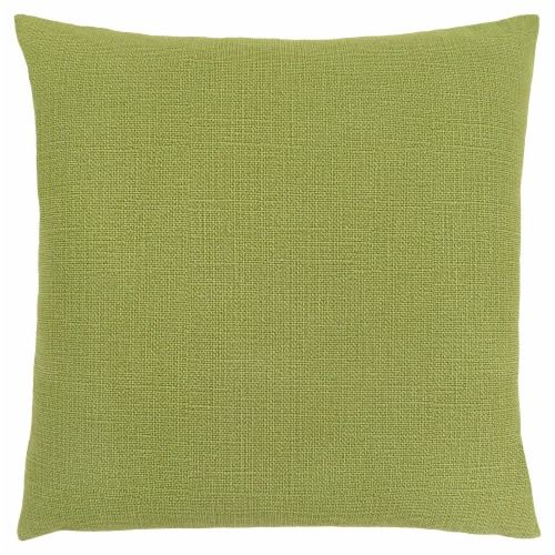 Pillow - 18 X 18  / Patterned Lime Green / 1Pc Perspective: front