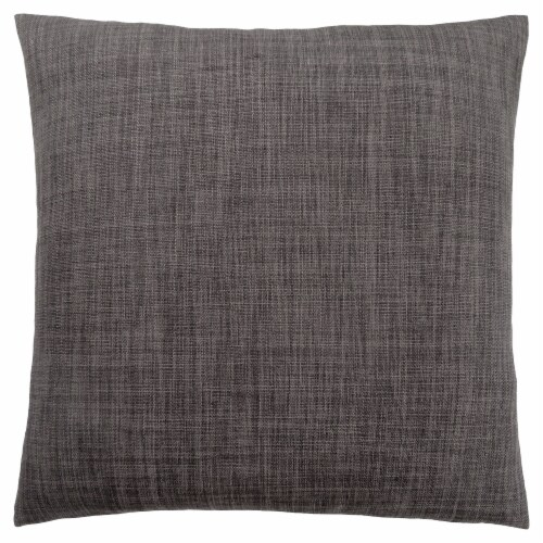 Pillow - 18 X 18  / Linen Patterned Dark Grey / 1Pc Perspective: front