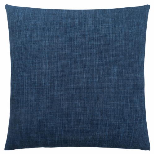 Pillow - 18 X 18  / Linen Patterned Dark Blue / 1Pc Perspective: front