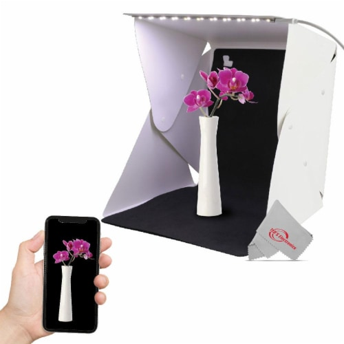 Vivitar 11 Inch Snap Assembly Portable Lightbox For Photography + Backdrops Perspective: front