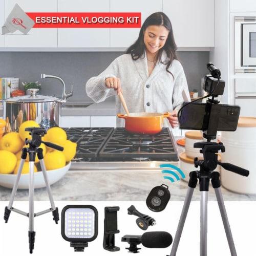 Vivitar Vlogging Kit For Home & Office Smartphones Cameras & Gopro Action Cam Perspective: front