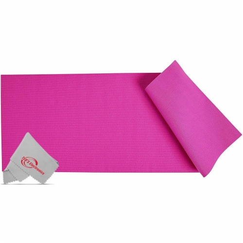 Vivitar Pfv8277 5mm High Density Foam Exercise Roll Up Mat For Yoga Perspective: front