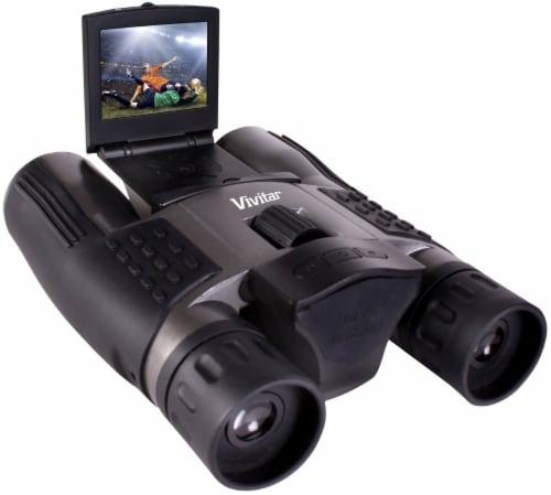 Vivitar Viv-cv-1225v 8mp 2-in-1 Binoculars And Digital Camera Black Perspective: front