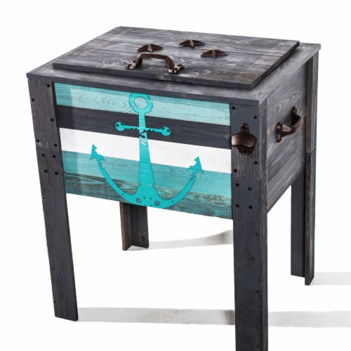 Backyard Expressions 45 Qt. Wooden Cooler Perspective: front