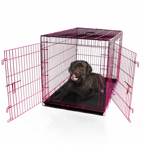 Backyard Expressions Double Door Pet Carrier Perspective: front