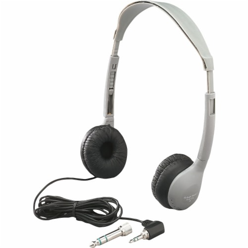 SchoolMate™ Personal Stereo Headphone with Leatherette Cushions Perspective: front