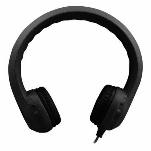 Flex-Phones™ Indestructible Foam Headphones, Black Perspective: front
