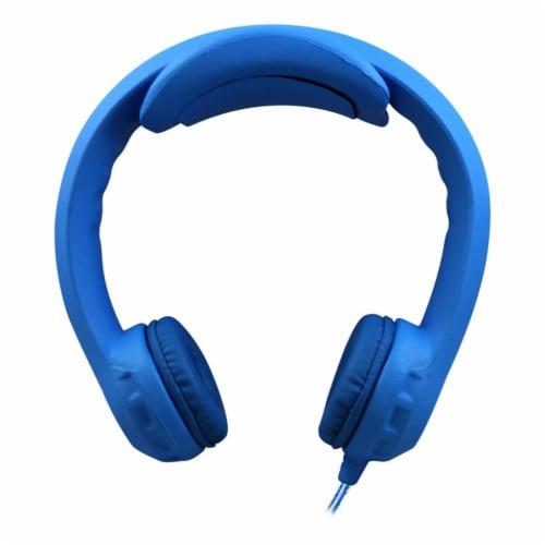 Flex-PhonesXL™ Indestructible Headphones For Teens, Blue Perspective: front