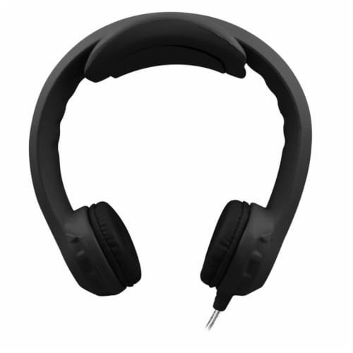 Flex-PhonesXL™ Indestructible Headphones For Teens, Black Perspective: front