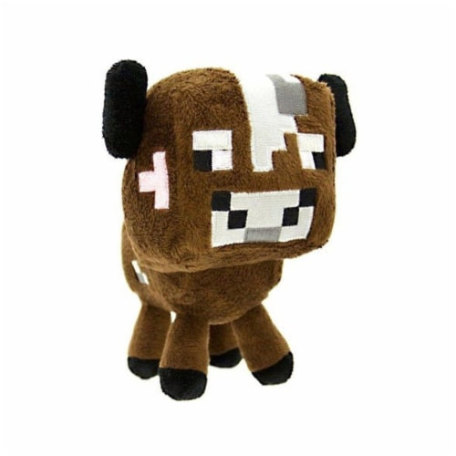 "Minecraft 7"" Plush: Baby Cow Perspective: front"