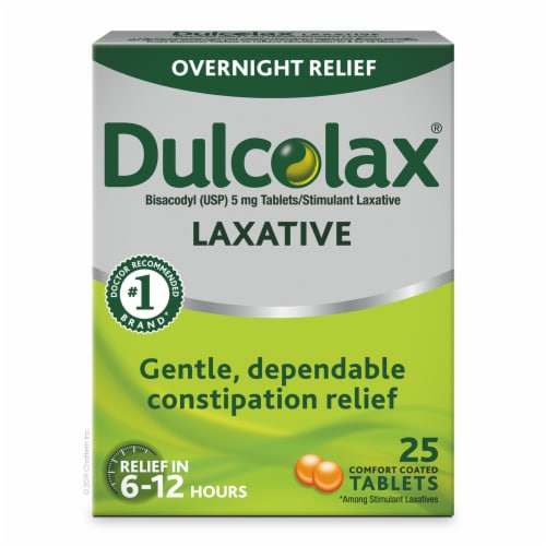 Dulcolax Overnight Relief Laxative Tablets 5mg Perspective: front