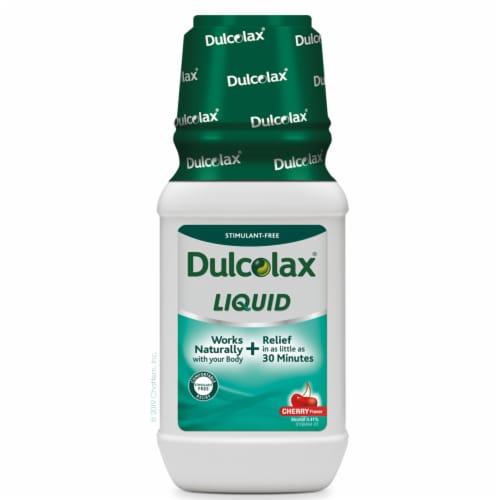 Dulcolax Cherry Flavor Liquid Saline Laxative Perspective: front