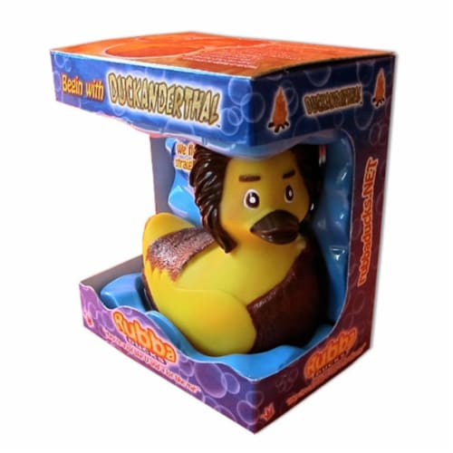 Rubba Ducks RD00082 Duckanderthal Gift Box Perspective: front