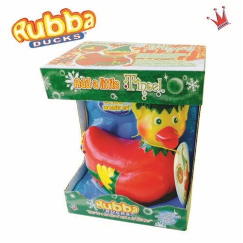 Rubba Ducks RD00152 Tinsel Seasonal Gift Box Perspective: front