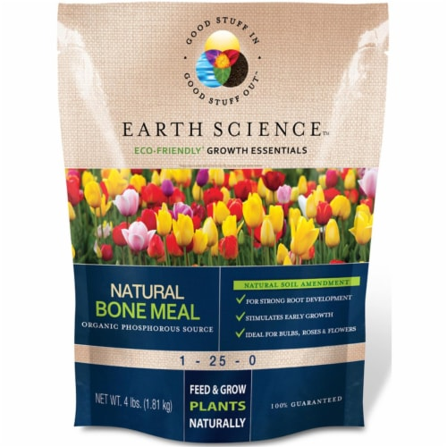Earth Science 7010955 4 lbs Growth Essentials Organic Bone Meal, Pack of 6 Perspective: front