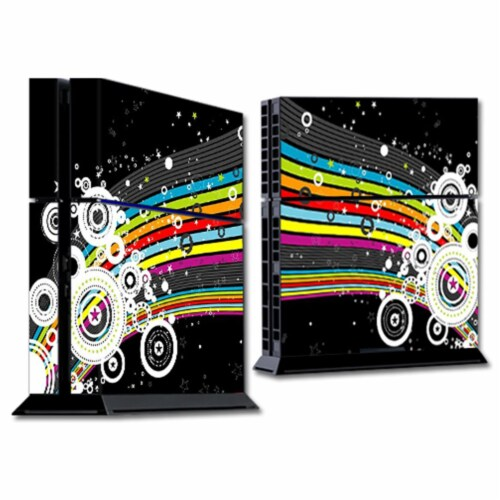 MightySkins SOPS4-Color Blast Skin for Sony Playstation 4 PS4 Console Wrap Sticker - Color Bl Perspective: front