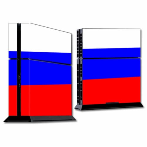 MightySkins SOPS4-Russian Flag Skin for Sony Playstation 4 PS4 Console Wrap Sticker - Russian Perspective: front