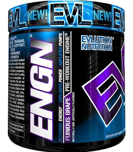 Evlution Nutrition  ENGN® Pre-Workout Engine   Furious Grape Perspective: front
