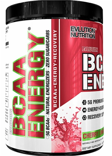 Evlution Nutrition  BCAA Energy®   Cherry Limeade Perspective: front