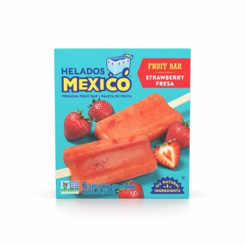 Helados Mexico Strawberry Fresa Paletas Fruit Bars Perspective: front